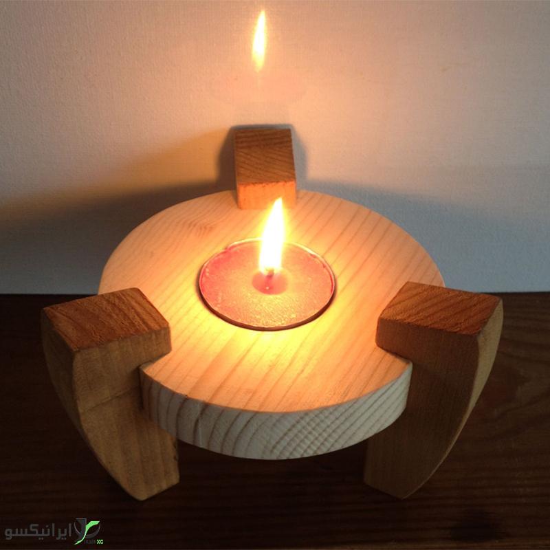 جا شمعی سه پایه
