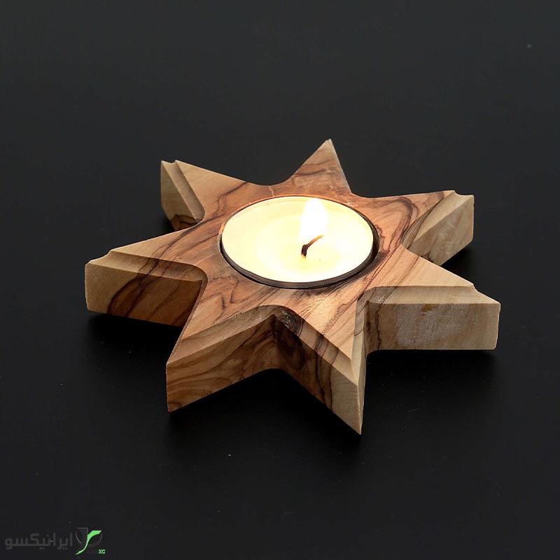 جا شمعی طرح ستاره