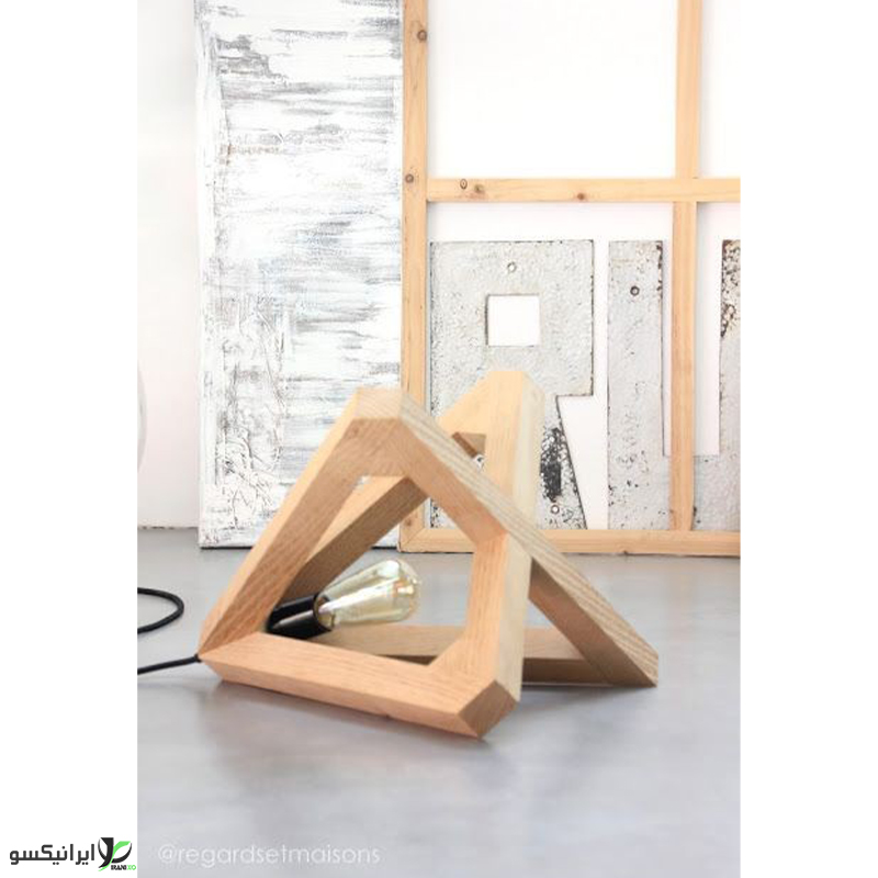 لوستر آویز چوبی طرح الماس