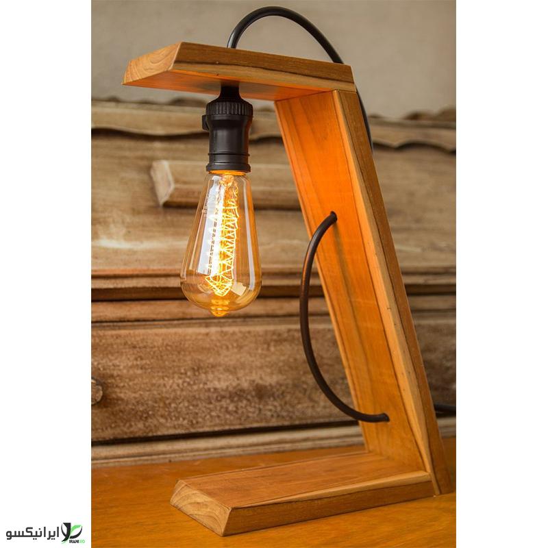 چراغ خواب چوبی مارپله