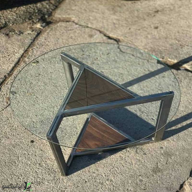 میز عسلی فلزی مدل پرسا