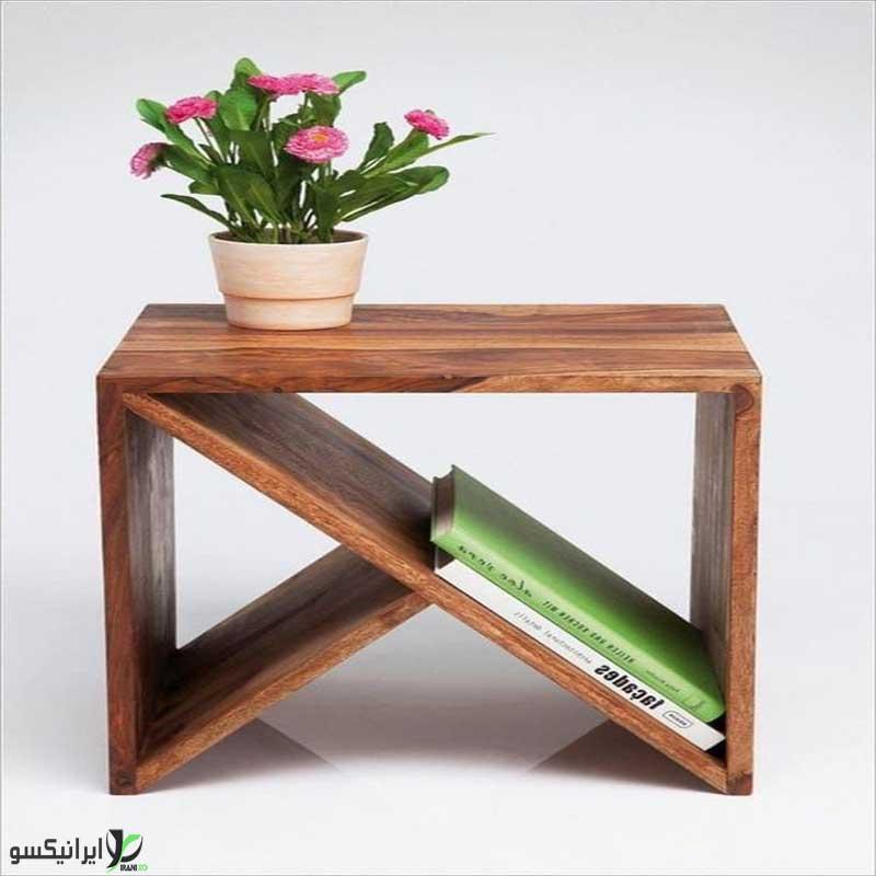میز عسلی چوبی مدل mina