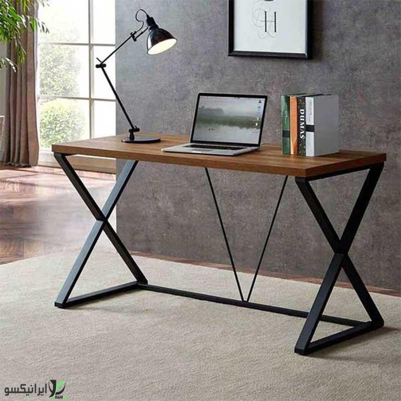 میز تحریر چوب و فلز مدل elina