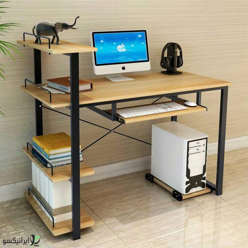 میز کامپیوتر چوب و فلز  مدل vinux