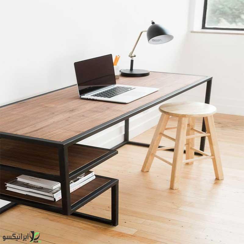 میز تحریر چوب و فلز مدل ویوا