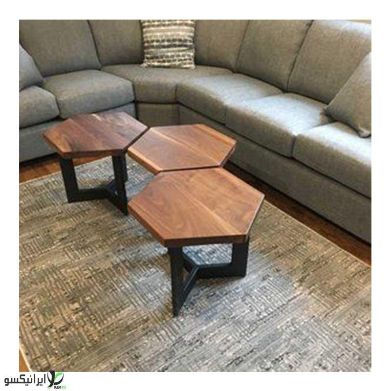 میز عسلی مدل شش ضلعی