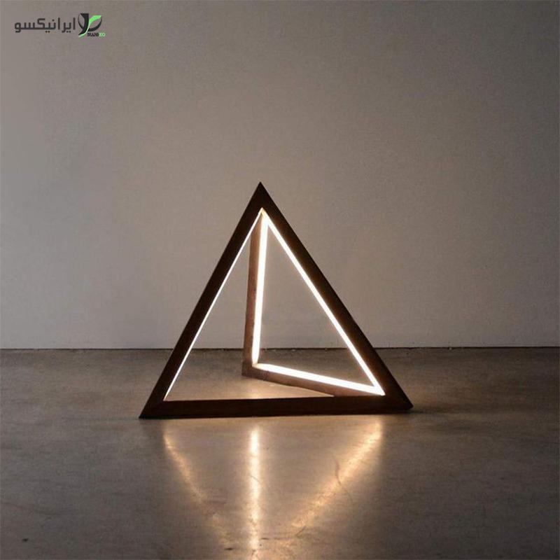 چراغ خواب چوبی مثلثی