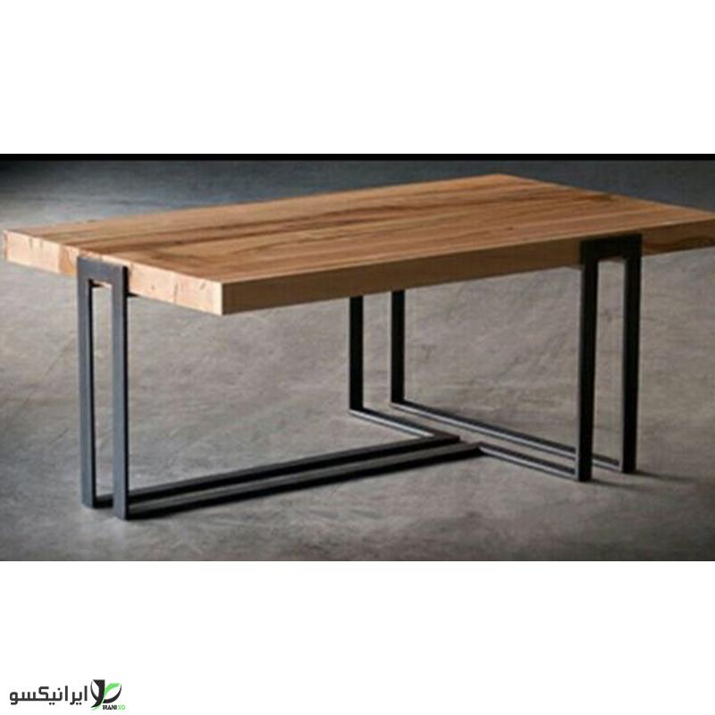 میز وسط چوب و فلز مدل لوجینا