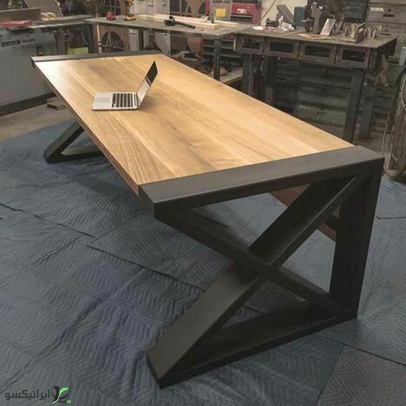 میز مدیریت چوب و فلز مدل ornell