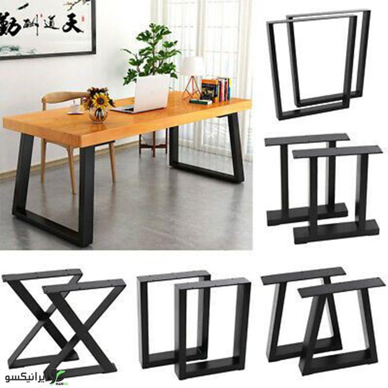 میز مدیریت چوب و فلز مدل ساندرا