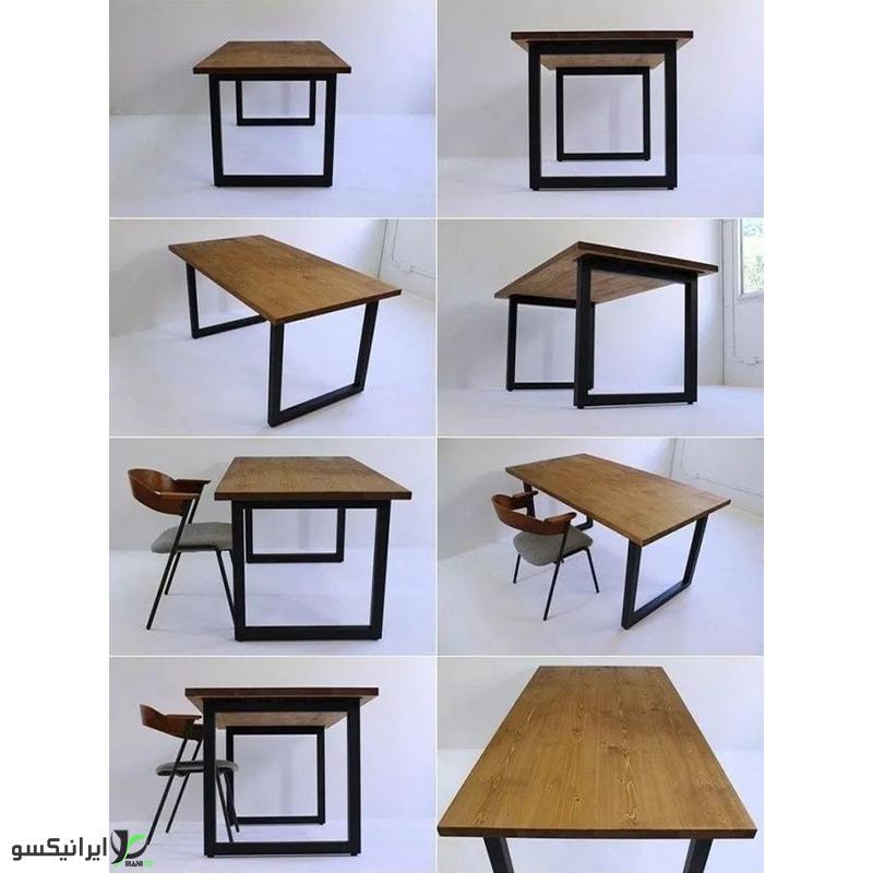 میز مدیریت چوب و فلز مدل farsis