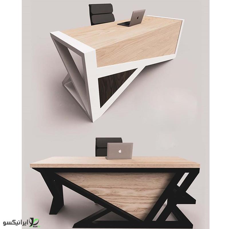 میز مدیریت چوب و فلز مدل serafina