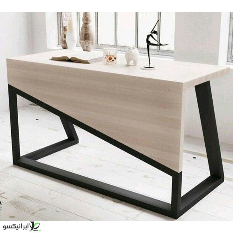 میز مدیریت چوب و فلز مدل ماریو