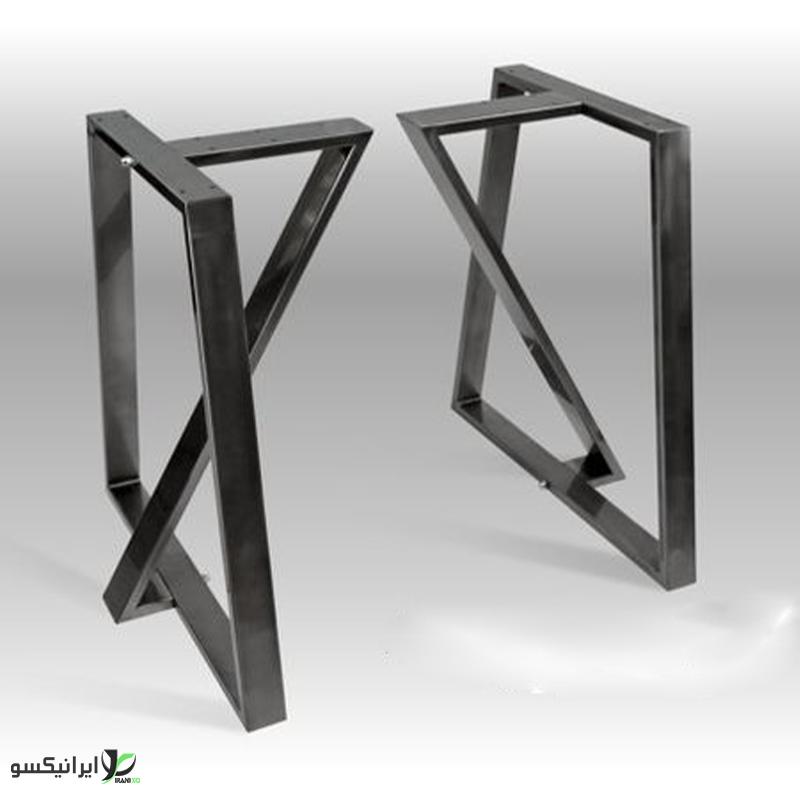 پایه میز فلزی دو عددی مدل fabia