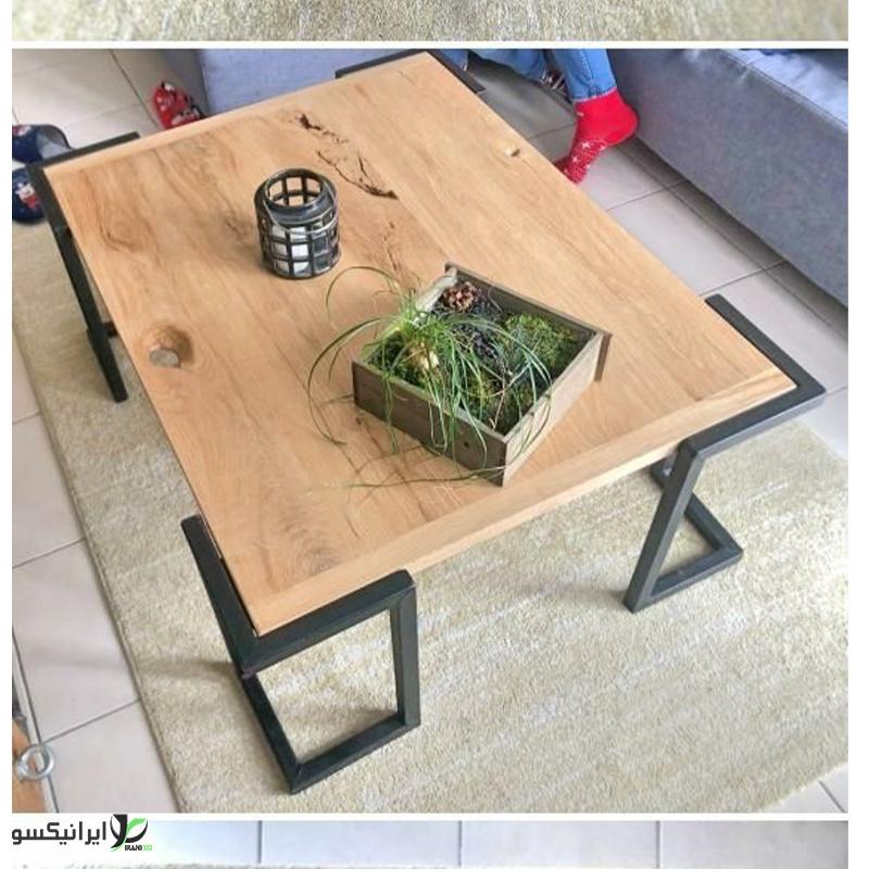 میز ناهار خوری چوب و فلز مدل esta