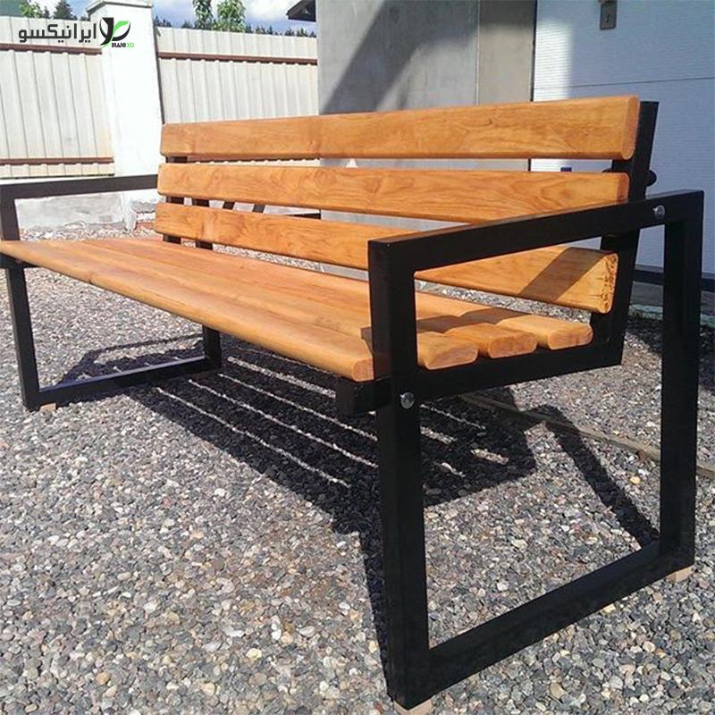 صندلی چوب و فلز مدل gina