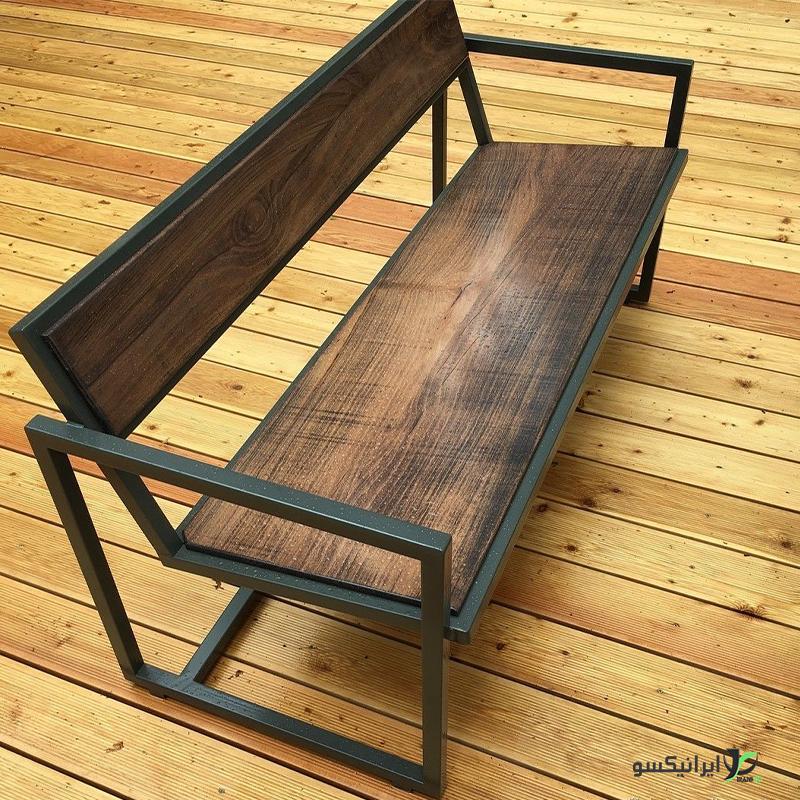 صندلی چوب و فلز مدل zola